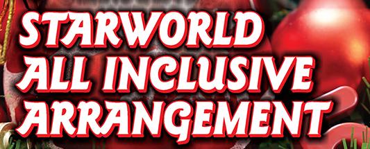 Starworld AllInclusive 533x215All Inclusive Arrangement 2e Kerstdag