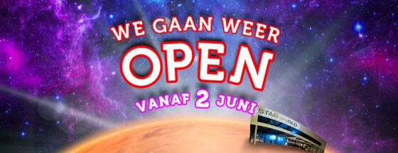 WEB Starworld Heropening 2 juni 560x215Starworld OPEN + Coronamaatregelen
